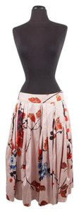 Dries van Noten Silk Embroidered Skirt Pink & Coral