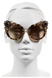 Miu Miu 52 MM Crystal-Embellished Cat'- Eye sunglasess
