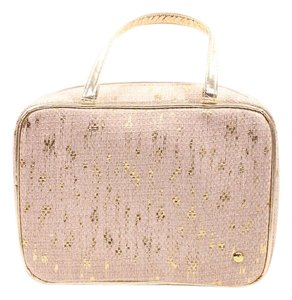 Stephanie Johnson Tan/Gold Makeup Case