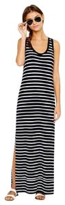 Black/White Maxi Dress by J.Crew Striped Maxi Classic Like New