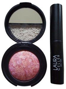 Laura Geller tropic hues baked blush n brighten and retractable blush brush NEW