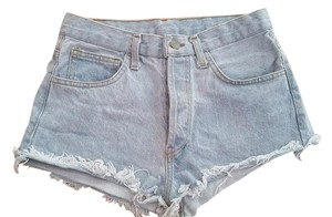 Brandy Melville Festival Denim Bootie Summer Cut Off Shorts Light Blue