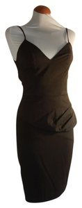 Black Halo Wiggle Sheath Pinup Peplum Flounce Dress