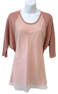 Lafayette 148 New York Pink Dolmen Sleeve Top Blush Pink