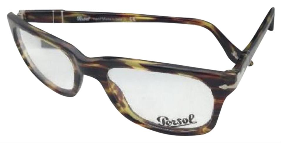 Persol New 3029-v 938 52-19 145 Green Striped Brown Frame Sunglasses ...