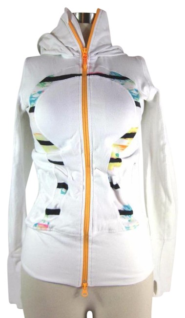 Item - White Multicolor Warm-up Activewear Outerwear Size 4 (S, 27)