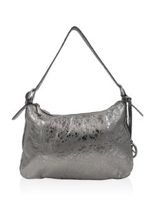 MICHAEL Michael Kors Silver Leather Baguette