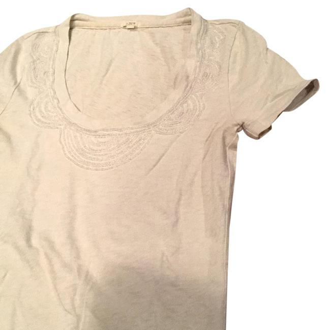 Preload https://img-static.tradesy.com/item/21133984/jcrew-taupe-beaded-tee-shirt-size-2-xs-0-5-650-650.jpg