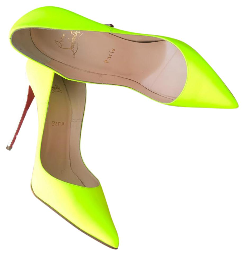 7c0ad01eee8 Christian Louboutin Neon Yellow So Kate 38 37 Patent Leather Pointy Pumps  Size US 8 Narrow (Aa, N) 48% off retail