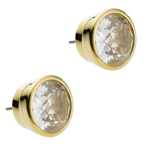 Michael Kors Crystal Stud Earrings Gold MKJ1056710