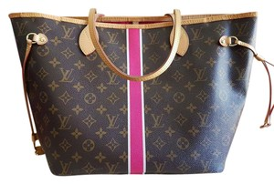 Louis Vuitton Neverfull Mm Pink Monogram Canvas Neverfull Tote