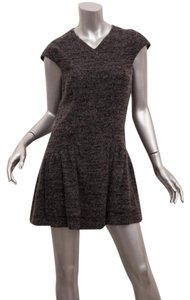 Chanel short dress Gray Cashmere Wool V-neck Cap Sleeve on Tradesy