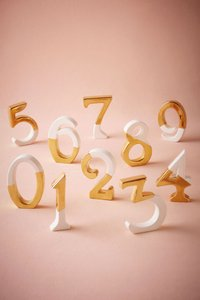 Bhldn Gold Dipped Table Numbers