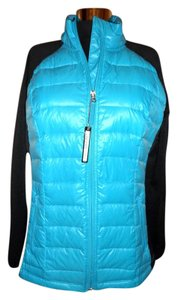 Calvin Klein Performance Athletic Quilted Jacket Teal Black Size L Large