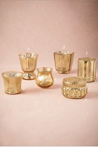 BHLDN Gold Mercury Mixed with Flameless Votive/Candle