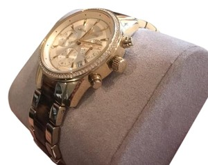 Michael Kors New Michael Kors Ritz Tortoise Glitz Stainless Gold Women's Watch MK6322
