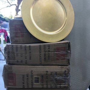 Reusable Gold Plates