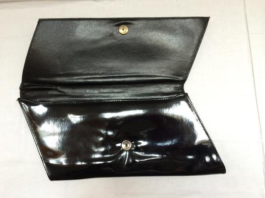 World Fashion Right Accessories Ltd. Patent Leather Wristlet True Vintage Vintage 60s Large Awesome Big Talkingfashion Parladimoda Fall 15 Trends Jet Black Shine Clutch
