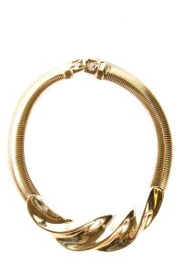 Givenchy Vintage Gold-Tone Snake Chain Collar Necklace