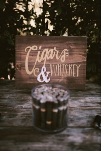 Cigars & Whiskey Wood Sign