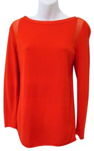 Lafayette 148 New York Bright Bold Top Orange