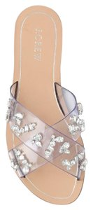 J.Crew Geniune Crystal Crisscross Strap Clear Sandals