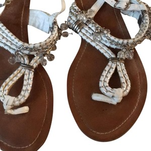 Bakers white/silver Sandals