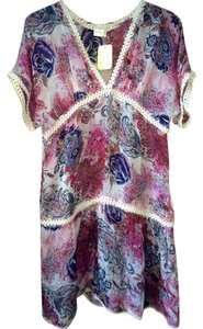 Cotton Club short dress Multi-color Silk Floral Summer on Tradesy