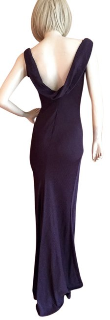 Item - Chocolate Brown Low Back Long Formal Dress Size 8 (M)