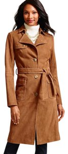 Talbots Suede Fully Lined Trench Coat