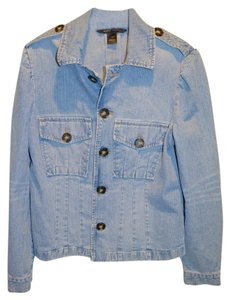 Marc Jacobs Denim Puff Sleeve Jean Jeans Faded Womens Jean Jacket