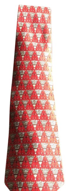 Item - Orange Red Gold Print Tie Fragrance