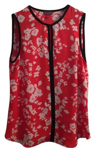 Vince Camuto Top Red/Multi/Floral