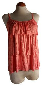 Charlotte Russe Ruffles Tiered Ruffled Tank Top Rose