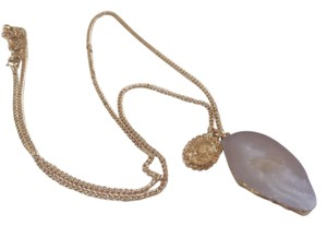 Anthropologie Pale Pink Opal Stone Long necklace