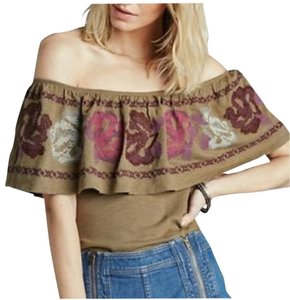 Free People T Shirt army green