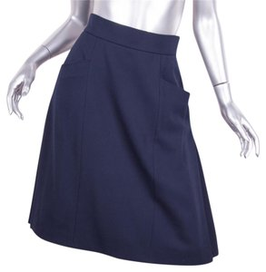 Chanel A-line Skirt Navy