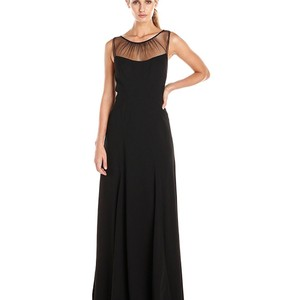 Black Vera Wang Black Crepe Gown Size 6 Dress