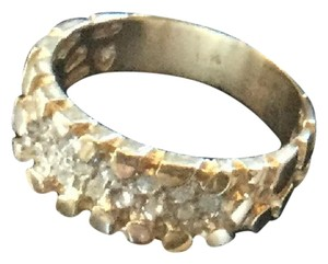 Other 14K Gold Nugget Wedding Ring, 13 Diamonds