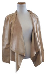 Eileen Fisher Leather Leather Butter Cream Leather Jacket
