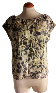 French Connection Abstract Multicolored Fcuk Top Multi