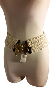 Wet Seal Wet Seal Boho Bow Gold and Crochet Belt