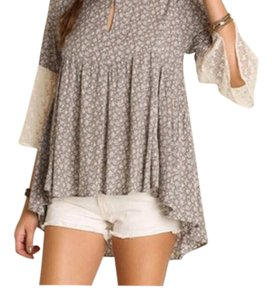 Umgee Top Taupe/Cream
