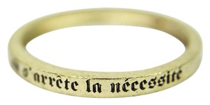 Chanel Gold Tone Metal FRENCH QUOTE Bangle BRACELET JEWELRY