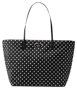 Kate Spade New York Medium Harmony Grand Street Wkru4021 Black Tote in Diamond Dot