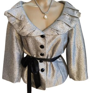 Adrianna Papell Silver & Black Jacket
