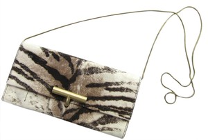 Reed Krakoff T-pin Tiger Print Calf Hair Chain Strap Multi-Color Clutch