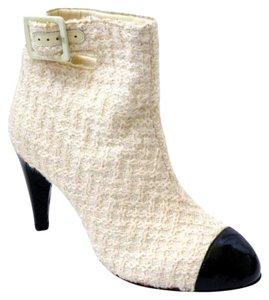 Chanel Tweed IVORY Boots