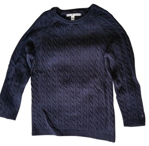 Tommy Hilfiger Cable Knit 3/4 Sleeve Crew Neck Sweater