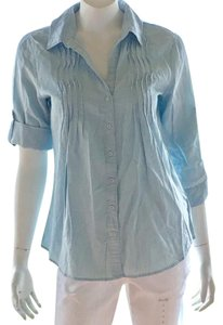 American Vintage Button Down Shirt blue